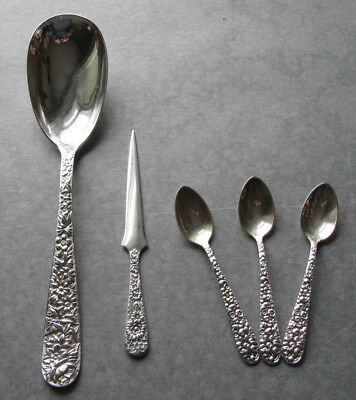 Group Baltimore Silver 'Repousse' Flatware, S. Kirk & Son and Jacobi & Jenkins