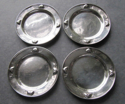 Set of  Four Georg Jensen Silver #428 A Coasters, Copenhagen, Denmark, 1915-32