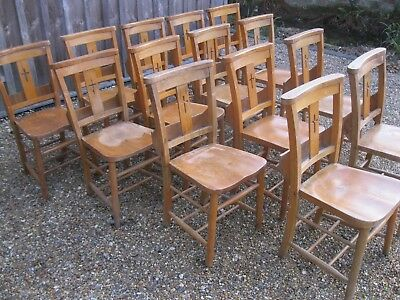 OLD CHAPEL / CHURCH PEW CHAIRS. Delivery poss. ALSO PINE BENCHES AVAILABLE.