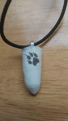REAL AUTHENTIC ALLIGATOR TOOTH GATOR NECKLACE Engraved PAW PRINT GO GATORS NWOT