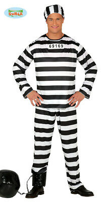 Adult Mens Prisoner Costume ~ Medium