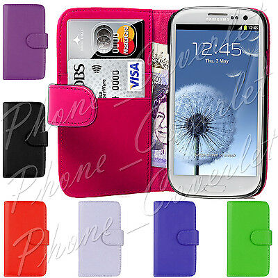 Magnetic Flip PU Leather Wallet Phone Case Cover For Samsung Galaxy S3 III i9300