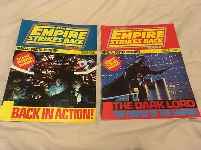 The Empire Strikes Back Vintage Poster Magazine Issues 1 & 2 Near Mint