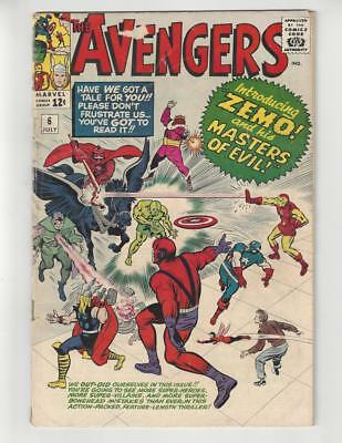 The Avengers #6/Silver Age Marvel Comic Book/1st Baron Zemo/VG