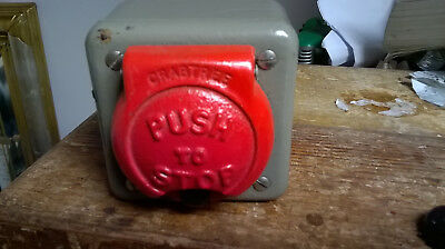 vintage crabtree stop switch