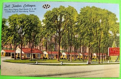 TALL TIMBER COTTAGES Harrisburg Business Advertising Postcard Post Card Travel