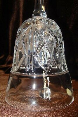 Genuine Lead Crystal Hand Cut Clear Glass Bell - Made in West Germany with Label