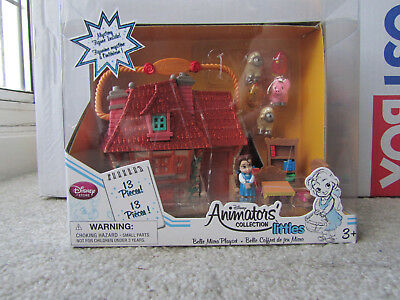 Disney Store Animators Collection Belle Littles Mini Micro Toy Doll Playset