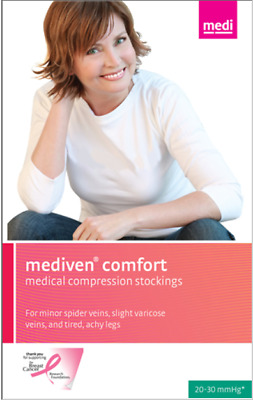 MEDIVEN COMFORT 20-30 MMHG CLOSED TOE PANTYHOSE - BLACK size 1-used perfect