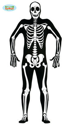 Adult Mens Skeleton Halloween Jumpsuit Costume ~ Medium