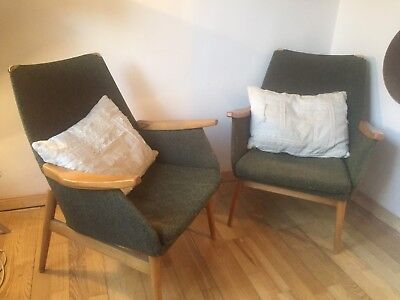 Vintage PAIR Cocktail ARM CHAIRS MID CENTURY German 1950s Iconic Furniture Seats