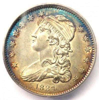 1834 Capped Bust Quarter 25C Coin - Certified ICG MS63 (BU UNC) - $4,200 Value!