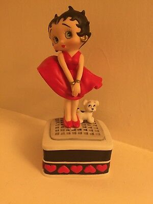 Betty Boop Music Box - Marilyn Pose With Pudgy - San Francisco Music Box 1997