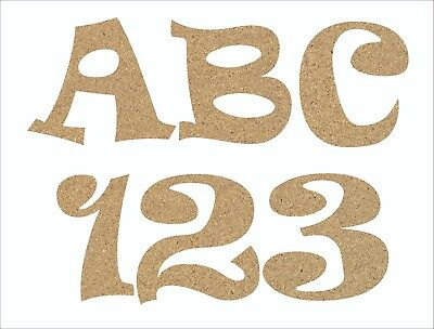 F343 50mm 200mm DISNEY FONT Wooden Letters /& Numbers Alphabet Letters /& Number