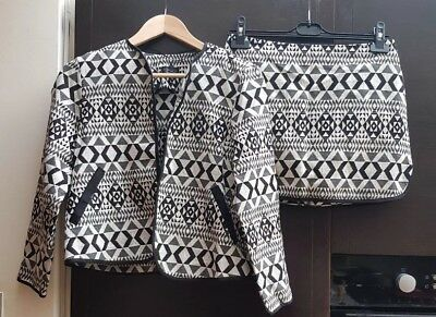 Brand New with tags TOPSHOP Black and White Aztec Co Ord Set - Size 8/10