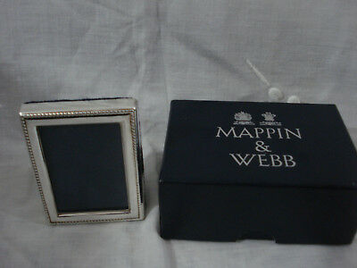 Mappin & Webb minature sterling silver photo frame. New. Boxed. Mothers Day?