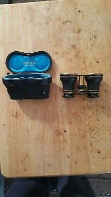 Vintage Tiffany & Co New York Opera Glasses Binoculars with case