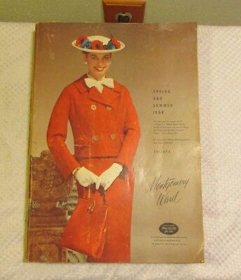 1958 MONTGOMERY WARD Spring and Summer Catalog Vintage Fashions Toys Electronics