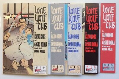 LONE WOLF AND CUB #1-4, #8 issues Frank Miller 1987 FIRST Publishing Comics EX!