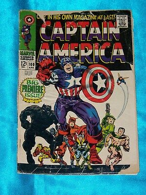 CAPTAIN AMERICA # 100, April 1968, Debut Issue! Black Panther! GOOD / VERY GOOD