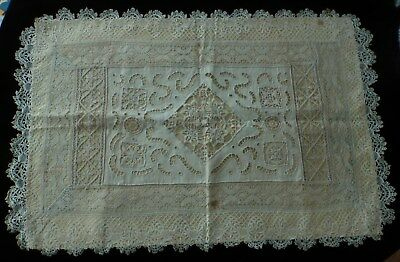 Beautiful French Antique Lace - Cutwork Table Decoration Dresser Cloth Pillow