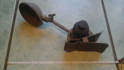 Vintage industrial clamp light/lamp with bakelite dimmer switch for spares or re