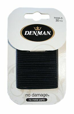 Denman No-Damage Elastico Hairbands Piccolo Nero Pezzi
