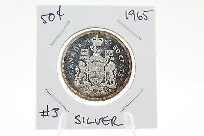 Canada 50 Cent Half Collection - 1965 Silver UNC - Actual Coin! #3