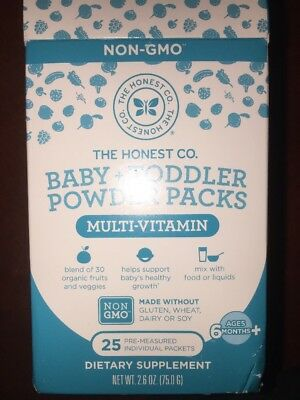 The Honest Company Baby & Toddler Multivitamin Powder Packs 25 Count Exp 01/2019