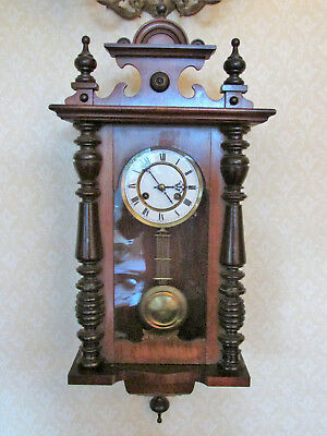Walnut wall clock - lovely mellow chime