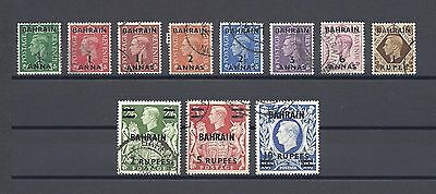 BAHRAIN 1948-49 SG 51/60A USED Cat £95