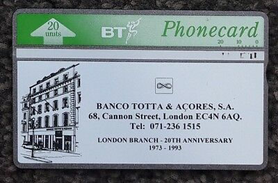 BT Promotional Phonecard BTP198 Banco Totta & Acores USED