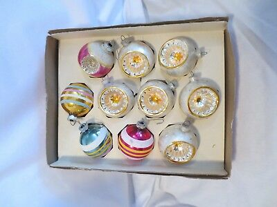 Lot Of 10 Vintage West Germany And Shiny Brite Christmas Ornaments