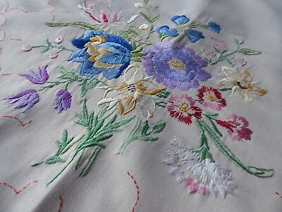 Vintage Hand Embroidered  Sofa/settee  Cover- Exquisite Embroidery