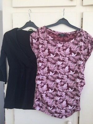 Two Maternity tops size 12 New Look and Blooming Marvellous