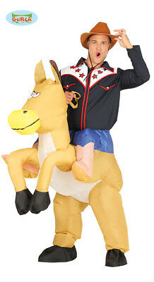 Adult Mens Inflatable Horse Cowboy Costume