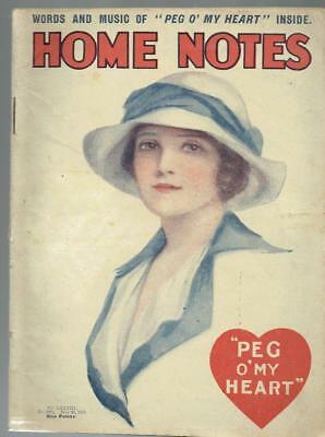 Vintage Home Notes Magazine - July 1914 - fashion,beauty,stories etc - see pics