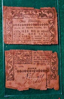 Colonial Currency One Shilling 1786