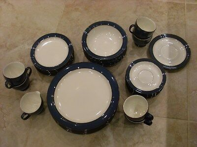 Denby Boston blue part dinner service some with labels still on