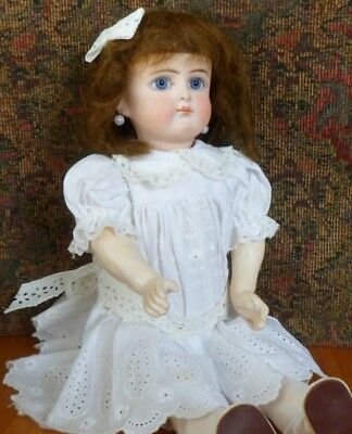 """Antique 13"""" BELTON Doll CLOSED MOUTH Paperweight Eyes Cabinet Size French Look"""