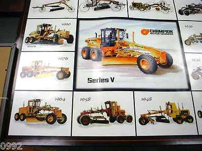 "Champion Motorgrader Dealer Wall Poster Excellent Condition, Very Nice, 22""x28"""
