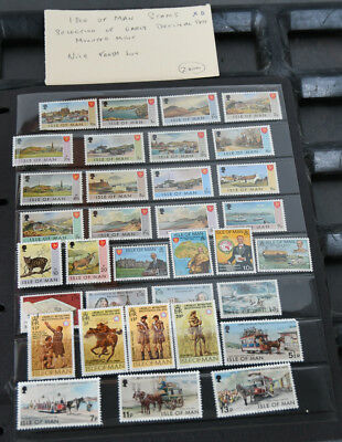 Isle of Man Stamps. Selection of early decimal sets; mounted; mint