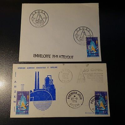 ALGERIA N°402 ON LETTER COVER 1st DAY FDC 1964