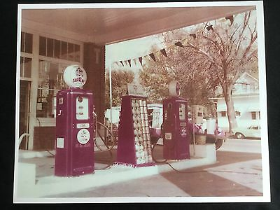 Vintage 1950s Skelly Supreme Gasoline Quaker State Service Station Photo Print