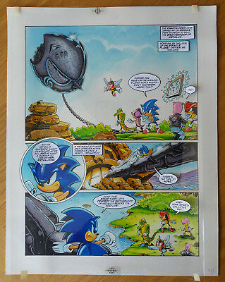 Sonic The Hedgehog - Sonic The Comic - Issue 68, Page 1 - Original Artwork