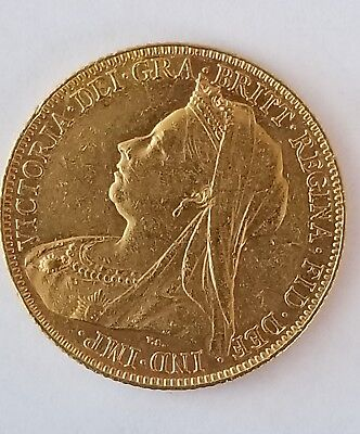 1900 Full British Gold Sovereign Queen Victoria  Gold Coin