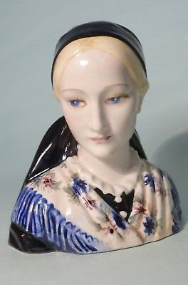 Beautiful Keramos Vienna Art Deco Porcelain Figurine Bust Of A Lady
