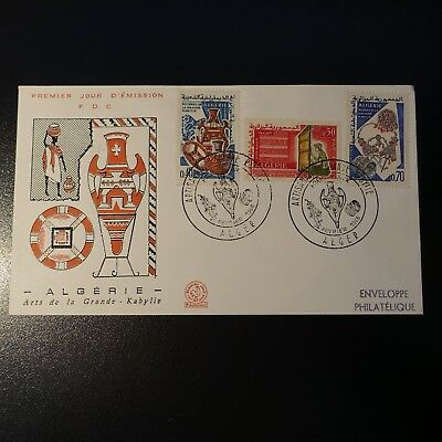 ALGERIA N°418/420 ON LETTER COVER 1st DAY FDC 1966