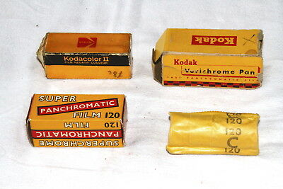 4 unopened rolls, some boxed of vintage film 120 & 116
