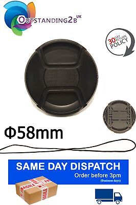 E-58II E58 II Center Pinch Lens Cap for Canon 58mm filter threads